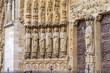 Sculptures on the wall of the Notre Dame de Paris