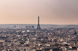 Aerial view of Paris from Basilica of the Sacred Heart