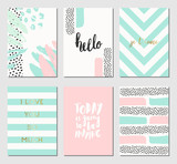 Abstract Design Cards Collection - 145618153