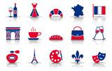 Frankreich Iconset - Farbe (Schatten)