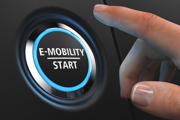 Button E-Mobility Start - Hand