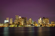 Evening skyline of Boston, Massachusetts, USA