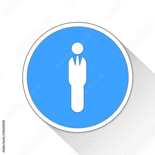 Poster Business Man Button Icon Business Concept
