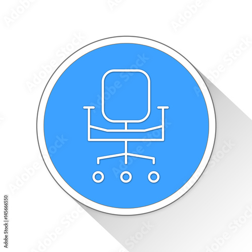 Poster Chair Button Icon Business Concept