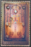 Gothic and mysterious door of wonderland