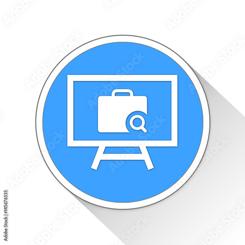 Poster business presentation Button Icon Business Concept