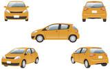 ハイブリッドカー 5カット(オレンジ) - 145679153