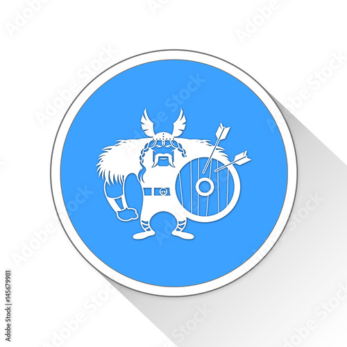 Poster Viking Button Icon Business Concept