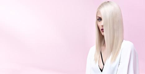 Portrait of an elegant blond woman