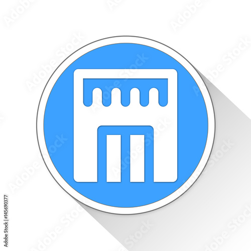 barbershop Button Icon Business Concept