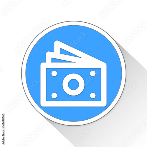 Poster Money Button Icon Business Concept