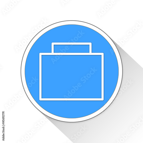 Poster Briefcase Button Icon Business Concept