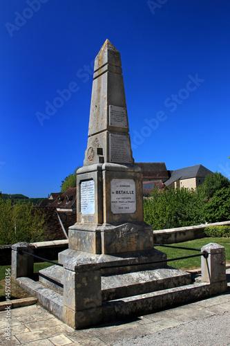 Poster Monument aux morts de Bétaille.(Lot)