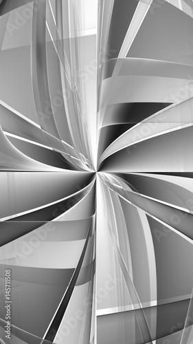 Monochrome pattern fractal background - 145711508