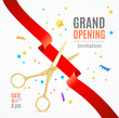Grand Opening Invitation Card. Vector
