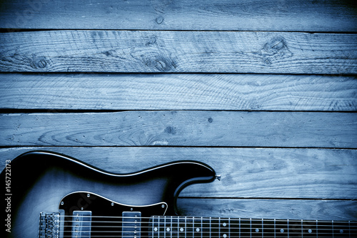 blues guitar background - 145722173