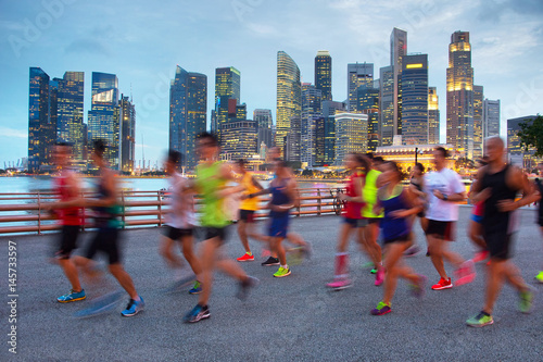 Running in Singapore Poster