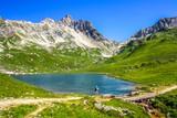 Bergsee in der Nähe der Sticklerhütte, Hohe Tauern, Österreich,