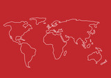 Hand drawn World map