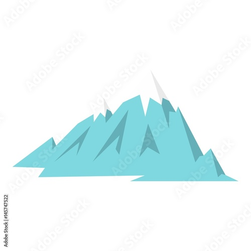 Foto op Canvas Wit Rocky Mountains icon isolated