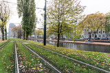ROTTERDAM, Netherlands - November 12, 2017 : Street view of Rotterdam City Netherlands. back to 1270 when a dam was constructed in the Rotte river by people settled around it for safety.