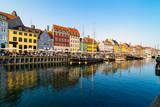 Nyhavn harbour in copenhagen denmark