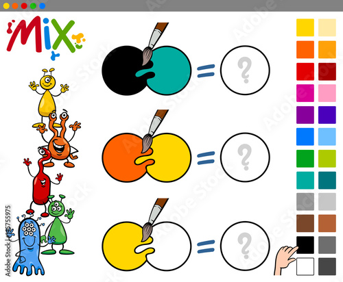 mix colors game for children