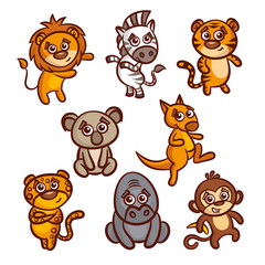 Cartoon Animals Set