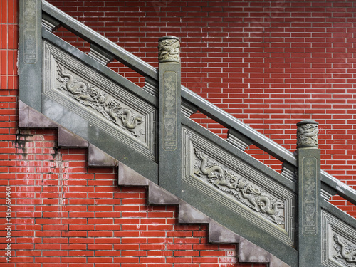 asian stair in the temple - 145769960
