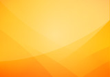 Abstract Yellow and orange warm tone background with simply curve lighting element vector eps10 - 145795146