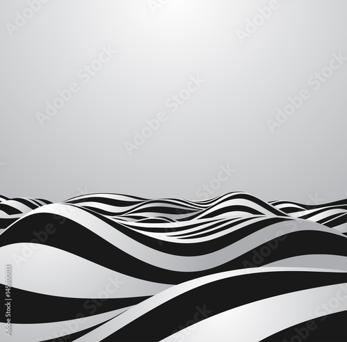 Fototapeta Abstract vector background of waves