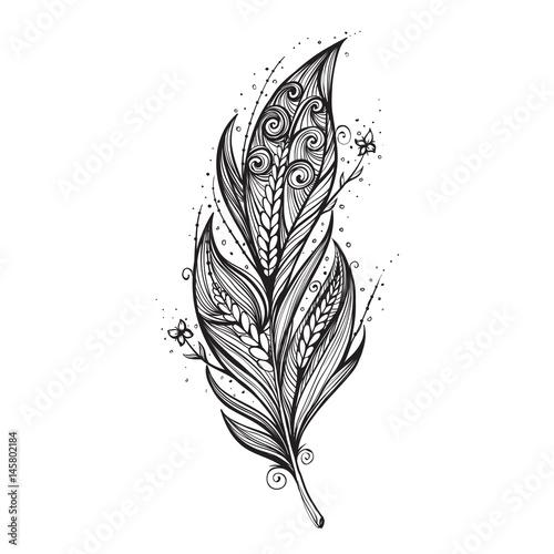 isolieren-feder-symbol-vektor-illustration