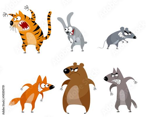 Six funny animals