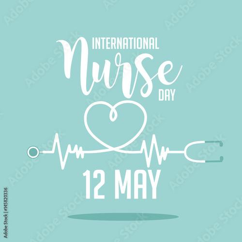 International Nurse Day icon design. EPS 10 vector.