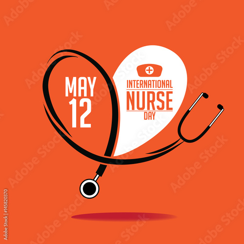 International Nurse Day icon design. EPS 10 vector.