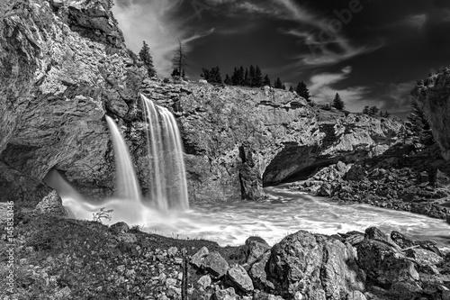 Natural Bridge Falls, Boulder River, Montana - 145833146