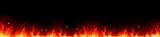 Fototapety Fire background in the dark. Vector illustration for design - stock vector