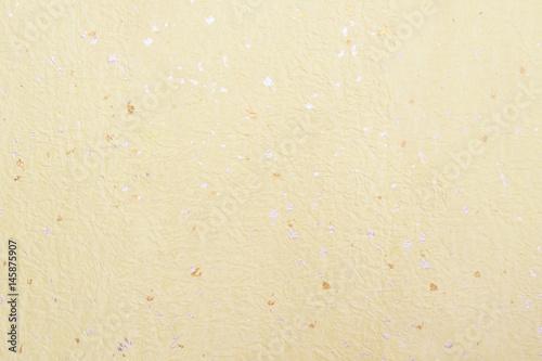 和紙背景素材-ベージュ金箔銀箔