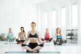 Women on yoga