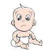Illustration of very cute a baby
