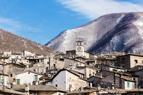 Scanno in winter time Poster