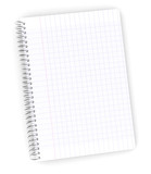 Wired graph paper notebook