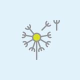 Вandelion, taraxacum filled outline icon, line vector sign, linear colorful pictogram. Blowbal symbol, logo illustration. Pixel perfect