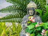 Relax - Hintergrund Buddha Pflanzen Fluss