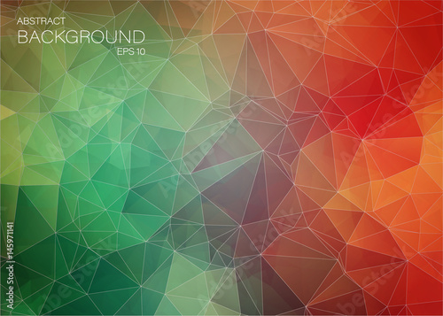 Fotobehang Geometrische Achtergrond Flat colorful abstract trianglify background
