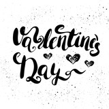Valentine's Day- hand painted ink brush pen calligraphy.