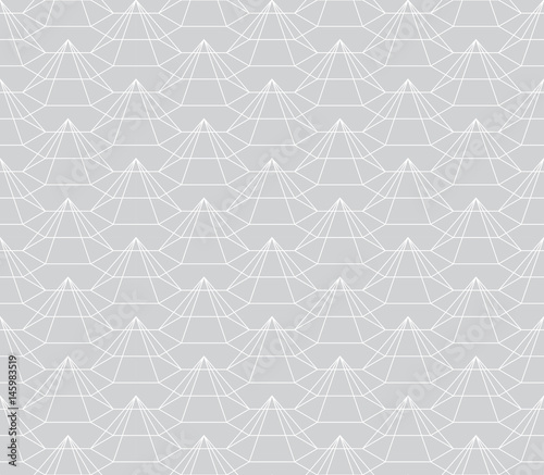 geometric 3d relief outline hexagon grid texture pattern - 145983519