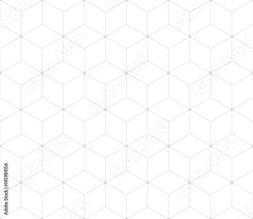 sacred geometry grid graphic deco hexagon pattern - 145984156