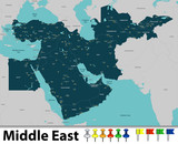 Map of Middle East - 145986126