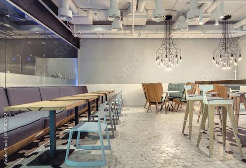 Fototapeta Restaurant in loft style